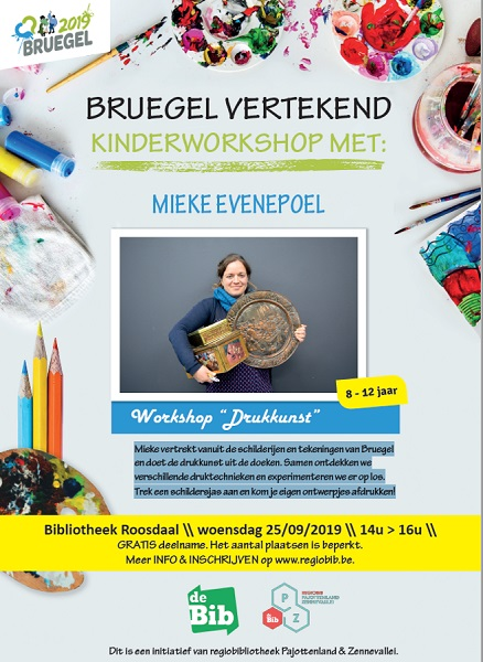 'Bruegel Vertekend' kinderworkshop